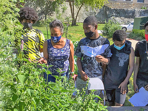 Lincoln University Regional Educator Tina Wurth interacts with youth as part of Lincoln University Cooperative Extension's Growing Your Future Program.