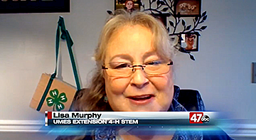 Lisa Murphy speaks on television during an interview.